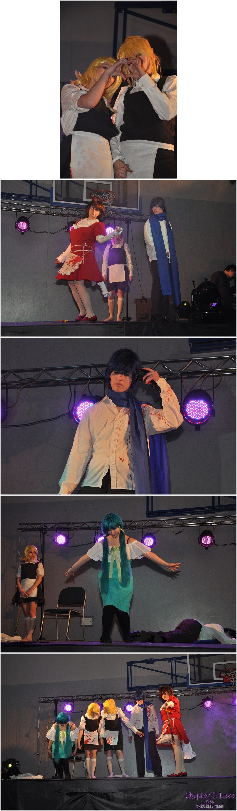 Chapter 1: Love — cosplay (Mietek, Zbysiu & BRZUZEEE TEAM): Ciupakabra Team (Vocaloid, Alice human sacrifice)